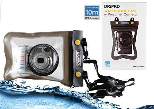 Navitech Schwarz Wasserdichte Unterwassergehäuse Fall / Abdeckung Beutel Trockenbeutel Für Die Canon IXUS 185 Digital Camera