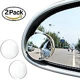 "JTDEAL Blind Spot espejo (2pcs, 2 ""), Rimless HD cristal gran angular 360 ° canvex espejo retrovisor de coche lado espejo Stick de coche SUV motocicleta universal Fit"