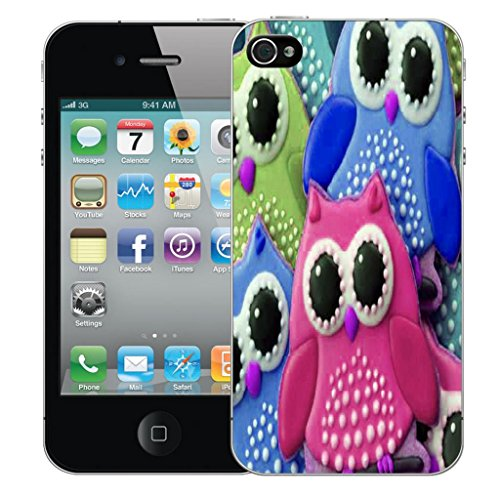 Mobile Case Mate iPhone 5s clip on Dur Coque couverture case cover Pare-chocs - water flower Motif young owl