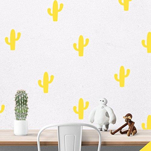 r wenig Kaktus-Wand-Aufkleber-entfernbare Kaktus Wandaufkleber Kunst-Dekor-20 Cactus pro Los [Gold] (Kaktus Dekor)