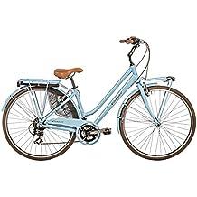 Casadei Bicicleta Clasica Retro Mujer - CTB Vintage Donna 28 21v 68DV, Azul Claro