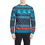 Ugly Christmas Sweater Herren UFODB Männer Sweatshirt Weihnachtspullover Xmas Langarmshirt Weihnachtenpulli Rundhals Winterpullover Pullover Winterpulli Oberteile