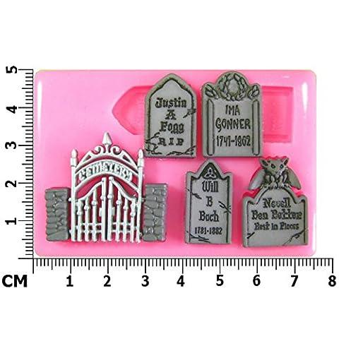 Monster Mash Smash Halloween cimetière Moule en Silicone pour décoration de gâteau/Cupcake Toppers Décoration de gâteaux glaçage pâte à sucre Par les fées Blessings outil