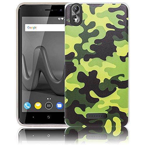 thematys Passend für Wiko Lenny 4 Plus + Camouflage (Nicht für Wiko Lenny 4) Handy-Hülle - Silikon - staubdicht, stoßfest & leicht - Smartphone-Case Wiko Lenny 4 Plus +