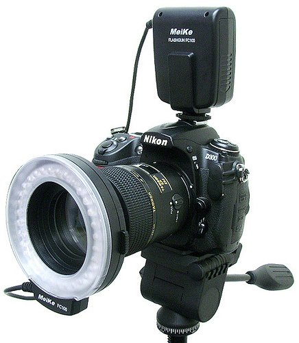 Pixtic - Flash annulaire macro Ring flash 32 LED pour Nikon