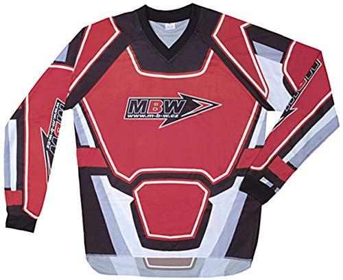 Motorradbekleidung Offroad MBW Motocross Hemd MX rot Cross Größe XXL