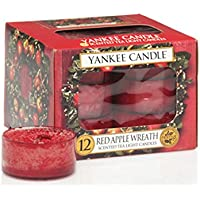 Yankee Candle Tea Light Candles, Red Apple Wreath, Pack of 12