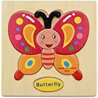 bismarckbeer 3D Puzzle Toy Toddler Kids Wooden Puzzles Games Cartoon Animals Educational Toy Gift