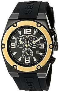 Swiss Legend Throttle Homme 47mm Chronographe Bracelet Silicone Noir Quartz Date Montre 30025-BB-01-GB