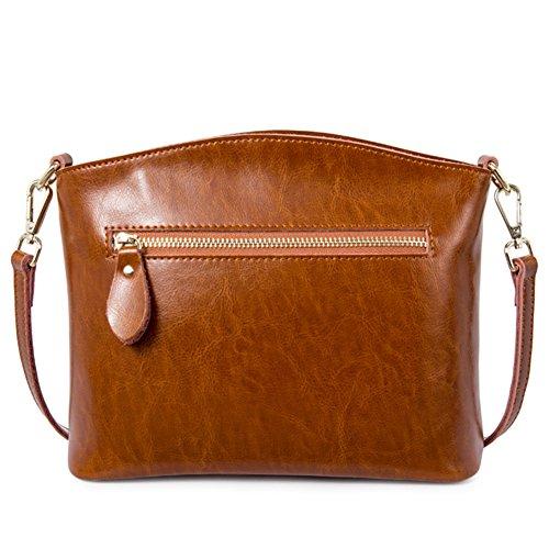 Pacchetto obliquo della signora/borsa monospalla piccola/semplice retro messenger bag-D A