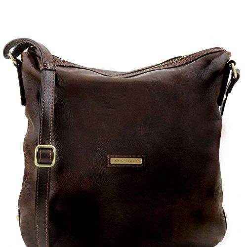Tuscany Leather - Alice - Sac cabas en cuir pour femme - Marron foncé