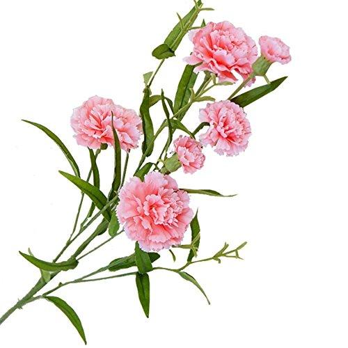 LAMEIDA Künstliche Blumen Bouquet Sträuße Blume Home Dekoration Blumen Nelke Dekoration Hochzeit Dekorative Blumen (Rosa-70cm)