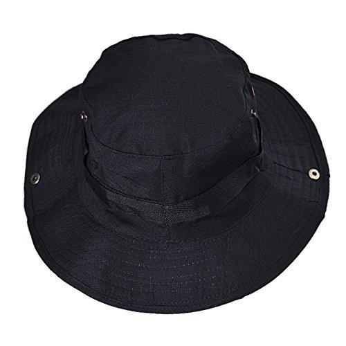 Weiche Eimer Hut (DWQuee Unisex Eimer Hut, Breiter Krempe Sonnenhut Verstellbarer Kordelzug zum Wandern)