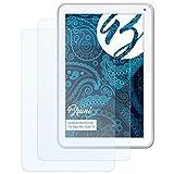 Bruni Schutzfolie für Odys Neo Quad 10 Folie, glasklare Bildschirmschutzfolie (2X)