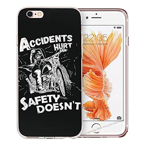 Blitz® BANANA motifs housse de protection transparent TPE caricature bande iPhone Stars & Stripes M16 iPhone 5c Accidents blessés M13