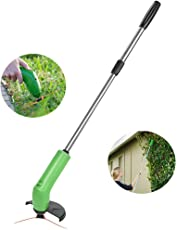 Techsun Zip Trim Cordless Trimmer & Edger Works with Standard Zip Ties Garden Weed Cutter Cordless Mower Trimmer || 1 x Zip Trim Unit || 1 x Extension Poles || 1 x Debris Shields || 24 Zip Ties