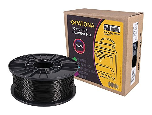 Patona 3D Printer Filament PLA schwarz (Spule / 1Kg / 1,75mm)