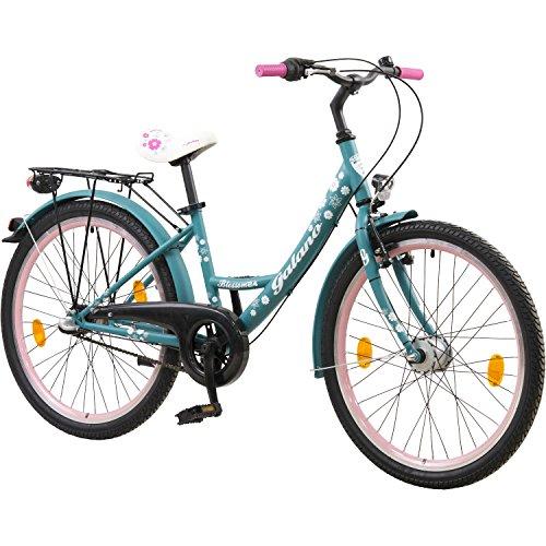 Galano 24 Zoll Mädchenrad Nexus 3 Gang Jugendrad Cityrad Mädchenfahrrad, Farbe:Grün