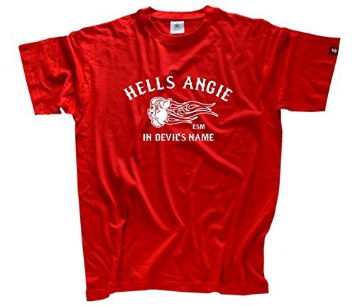 Hells Angie - In Devils name - Nein zum ESM Fiskalpakt T-Shirt Rot L