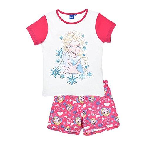 Frozen Pyjama Kollektion 2016 Die Eiskönigin 98 104 110 116 122 128 Schlafanzug Völlig Unverfroren Mädchen Lang Anna und Elsa Neu Creme-Rosa (122 - 128, Creme-Rosa)