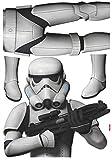 Star Wars Stormtrooper - Disney Decosticker Aufkleber 100x70cm - 4-teilig. Beigelegt ist eine Klebeanleitung.