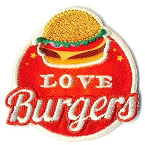 mediac 3Stück Patch Flicken, Love Burgers