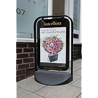 Swinger 2000 A2 Poster Holder Pavement Sign with Black Frame. Code SW2000BTOP