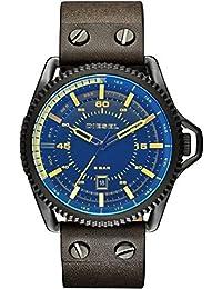 Diesel Herren-Armbanduhr Rollcage Analog Quarz Leder DZ1718