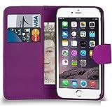 Supergets Hülle für Apple iPhone 5 Buch-Stil Imitat Leder Brieftasche mit Magnetverschluß in Lila Hülle Etui Schale, Mini Eingabestift, Schutzfolie