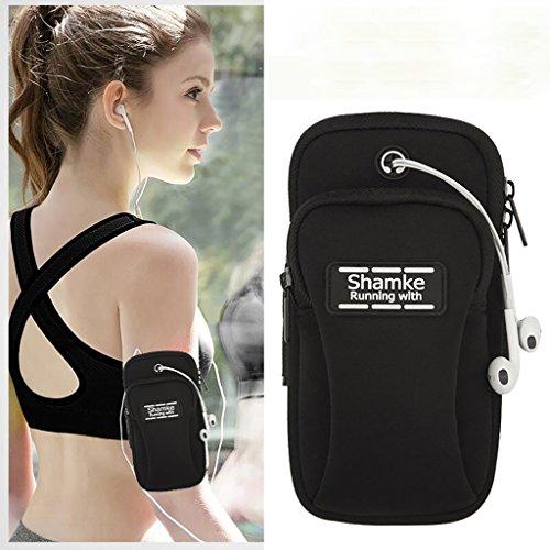 Outdoor Sports Running Fitness pacchetto del braccio del braccio del telefono mobile per il telefono di 5.0 pollici ( Colore : Rose red ) Nero