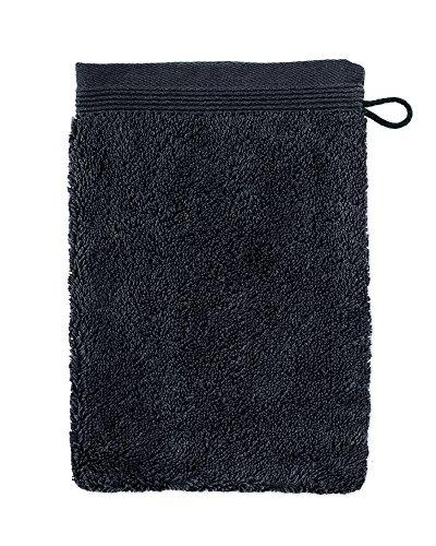 möve Superwuschel Waschhandschuh 15 x 20 cm aus 100% Baumwolle, dark grey
