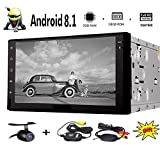 Android 8.1 Auto-Stereo mit 2 GB RAM + 16 GB ROM 7 Zoll 1024 * 600 Touchscreen in Schlag-Doppelt-Din GPS Navigation-Steuerger?t AM UKW-RDS-Radio Bluetooth WIFI Mirrorlink + Free Wireless Backup-Kame