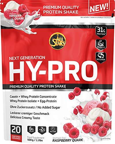 All Stars Hy-Pro Protein, Himbeer-Quark, 1er Pack (1 x 500 g)