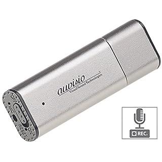 auvisio USB Aufnahmegerät: Digitaler Voice Recorder, geräuschaktivierte Aufnahme, 36 Std, 8 GB (USB Stick Aufnahme)