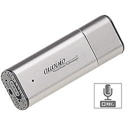 auvisio Aufnahmegerät Spionage: Digitaler Voice Recorder, geräuschaktivierte Aufnahme, 36 Std, 8 GB (Getarnte Aufnahmegeräte)