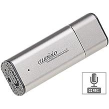 auvisio Spionage Mikrofon: Digitaler Voice Recorder, geräuschaktivierte Aufnahme, 36 Std, 8 GB (Sprachrecorder)