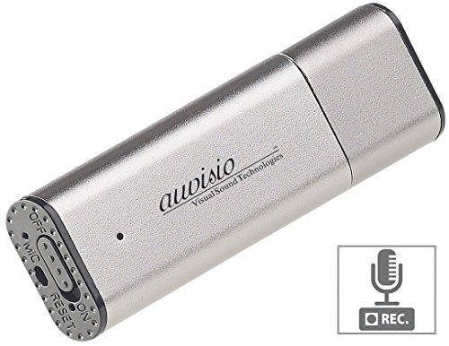 auvisio Aufnahmegerät: Digitaler Voice Recorder, geräuschaktivierte Aufnahme, 36 Std, 8 GB (USB Aufnahmegerät)