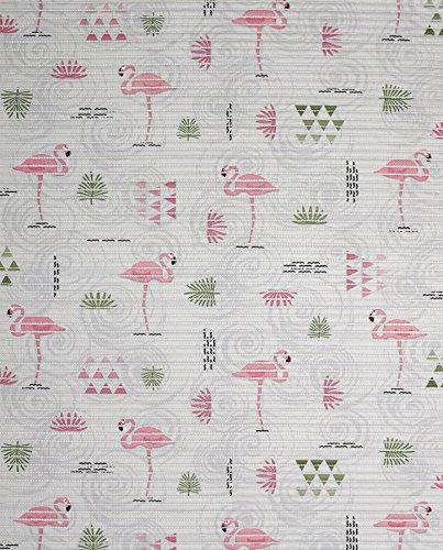 Badvorleger Aquamat Antirutsch Matte, Bad Garten Küche, Flamingo, Größe wählbar (160 x 65 cm)