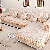 ZCM Sofa Überwürfe, Flachs Abdeckung 4 Saison Rutschfeste Überzug Sessel Stoff Stretch Couch Staub Protector HG-96 (EIN Stück) (größe : 80 * 180cm)