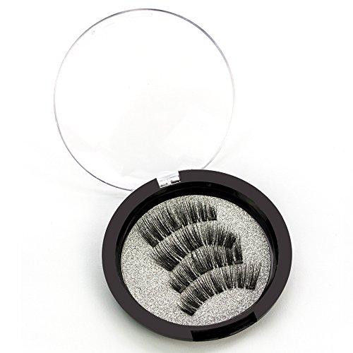 OUTANG Magnetische Wimpern 3D Falsche Wimpern Handgemachte Wimpern Natürliche Verlängerung Komfortable Magnete 4 PCS/Pair