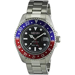 Nautec No Limit Men's Deep Sea Watch DS AT-GMT/STSTRDBLBK