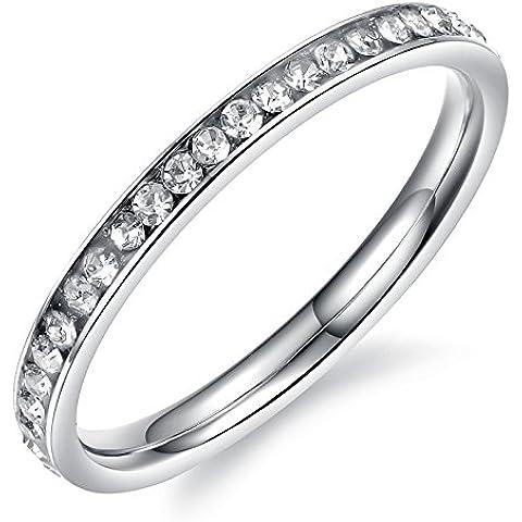 Acero inoxidable Full Eternal banda anillo color blanco