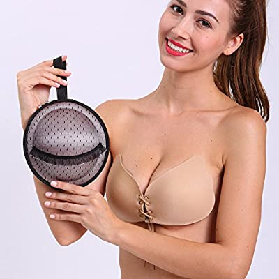 LALABRA Women's Strapless Push Up Front bra