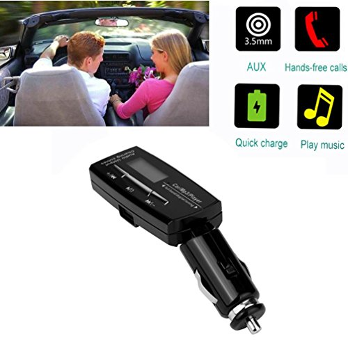 Xshuai Auto-Kit Bluetooth CSR 2.1 Wireless MP3-Player LCD Remote FM Transmitter CVC Noise Cancelling für Android (Schwarz) Mp3-bluetooth-home Kit