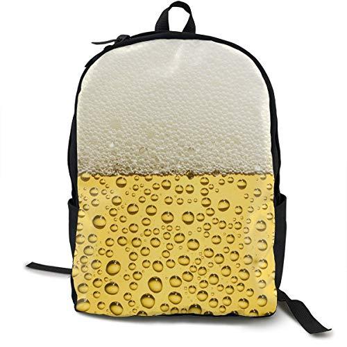 atopking Bier-Art-Segeltuch-Rucksack-Klassische grundlegende Mehrzweckrucksäcke für Jugend-Frauen und Männer