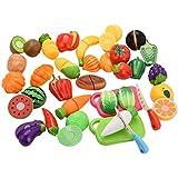 Molie 29pcs Niños divertido cortar frutas verduras juguetes educativos pretenden papel juego juguetes