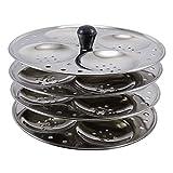 Acier indien traditionnel en acier distraitement stand Idli ustensiles de cuisine 4 plaques rack