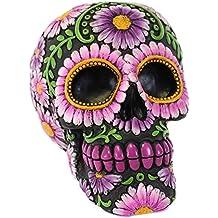 Candy Skull–Hucha, diseño floral, color morado