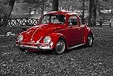 Wandbild 200x115cm selbstklebend Automobile Käfer VW Wandbilder Poster XXL ws92