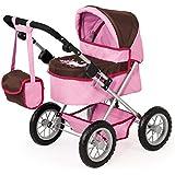 Bayer Design - Trendy, cochecito de muñeca, color moreno y rosa (13063)